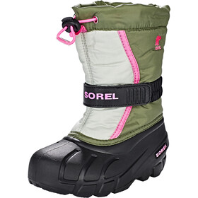 Sorel Flurry Bottes Enfant, hiker green/bubblegum